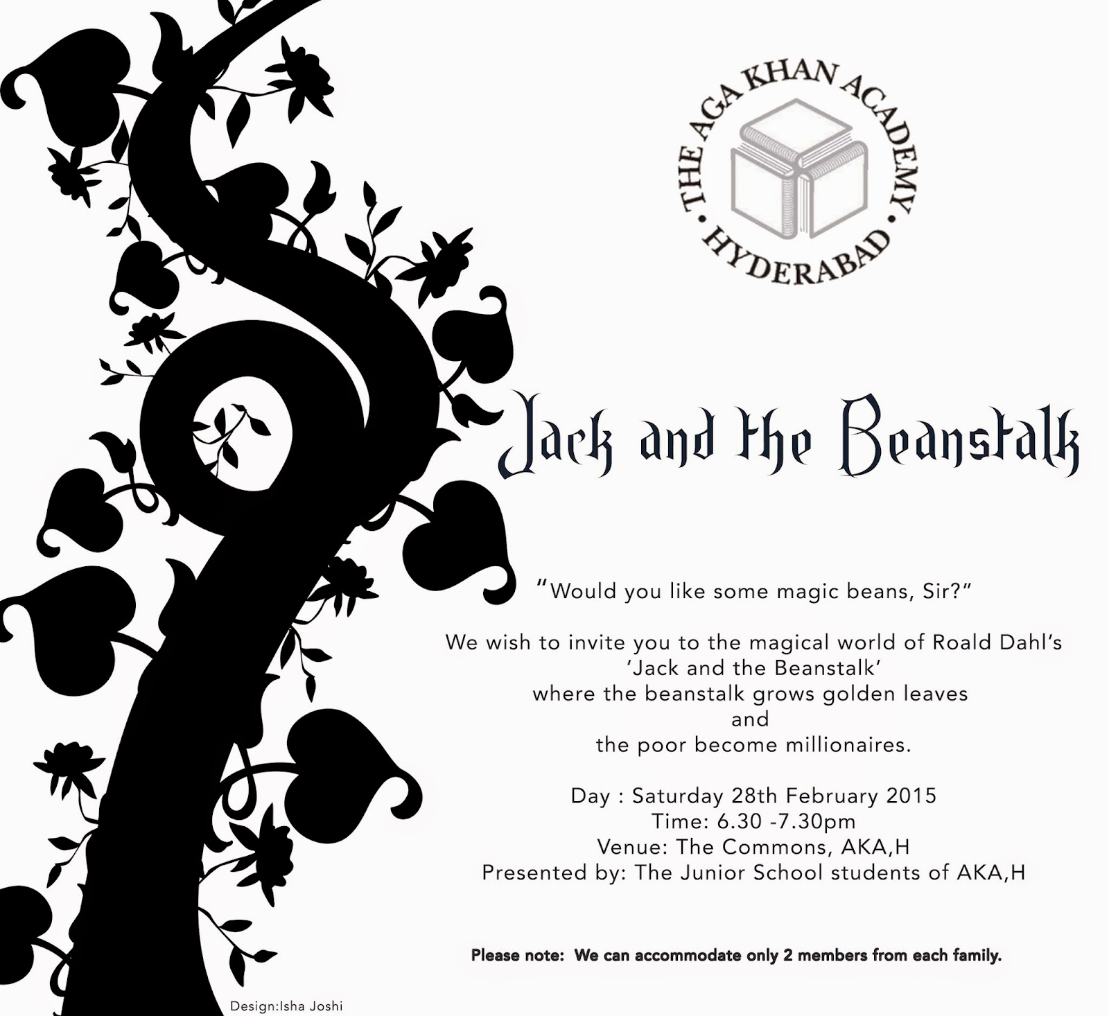 Art Junkees Annual Production Jack And The Beanstalk